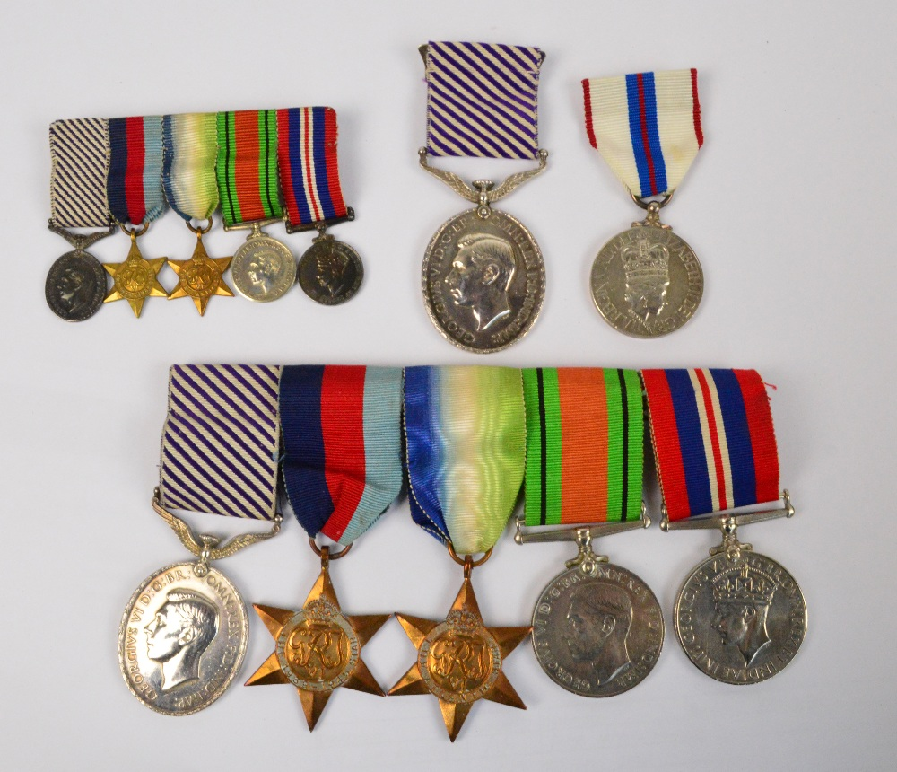 Lot 904 - A rare and important WWII D.F.M. medal group to 1115187. Sgt. D.W. Chapman R.A.F.