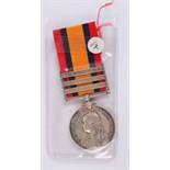 Lot 905 - A Queen's South Africa Medal with three bars; Belfast, Wittebergen and Cape Colony,