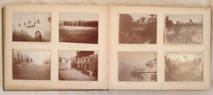 Lot 29 - AA VV ALBUM OF PHOTOS IN TUNISIA OF 1902 Very interesting album of travel in Tunisia made in