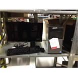 Lot 25 - Dell desktop PC Model: D15M Optiplex3020 with monitor, keyboard and mouse