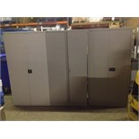 Lot 19 - 3x 6ft, 2 door steel Filing Cabinets (no keys, 1 is locked)