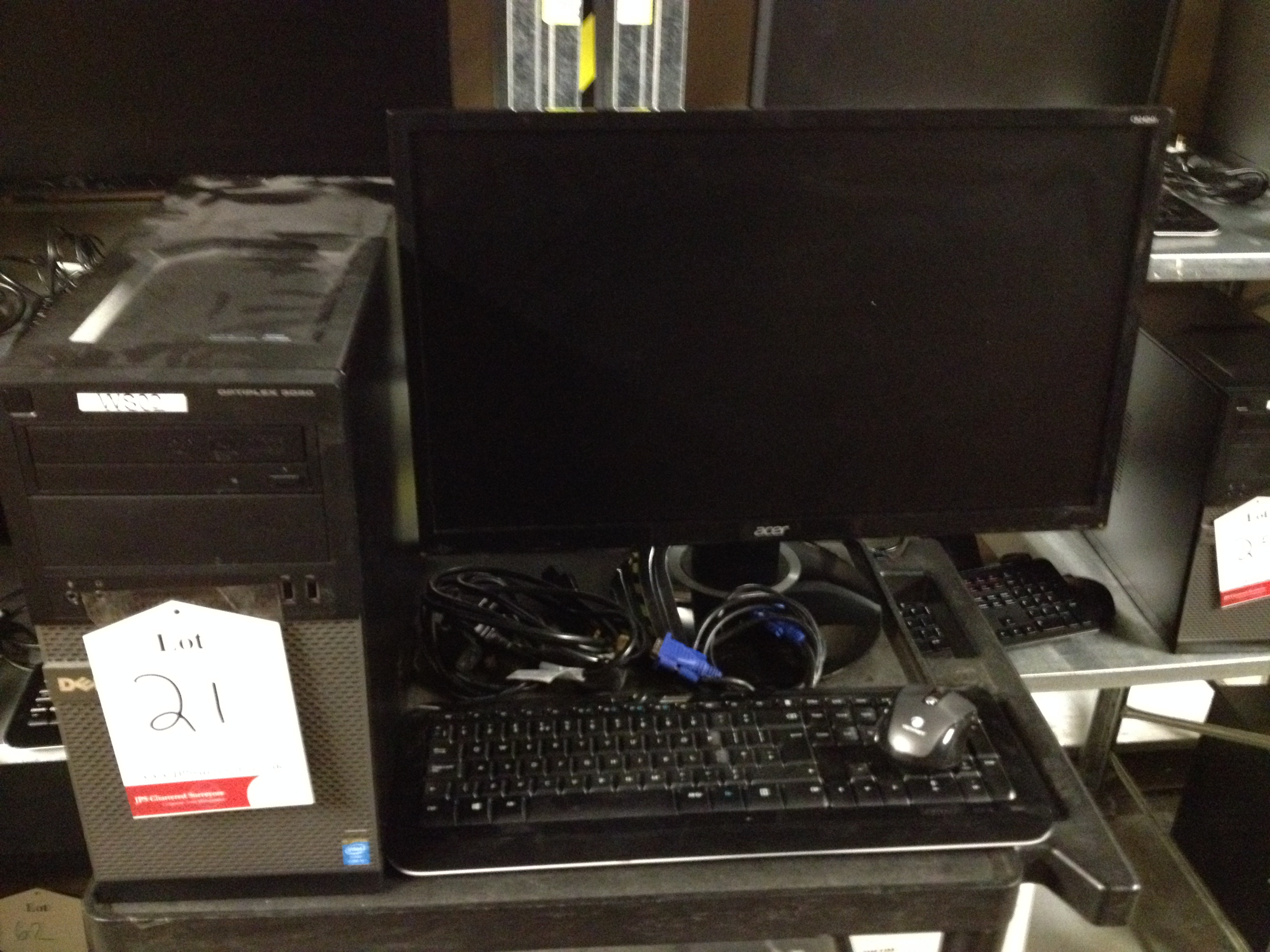 Lot 21 - Dell desktop PC Model: D15M Optiplex3020 with monitor, keyboard and mouse