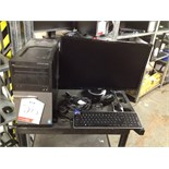 Lot 20 - Dell desktop PC Model: D15M Optiplex3020 with monitor, keyboard and mouse