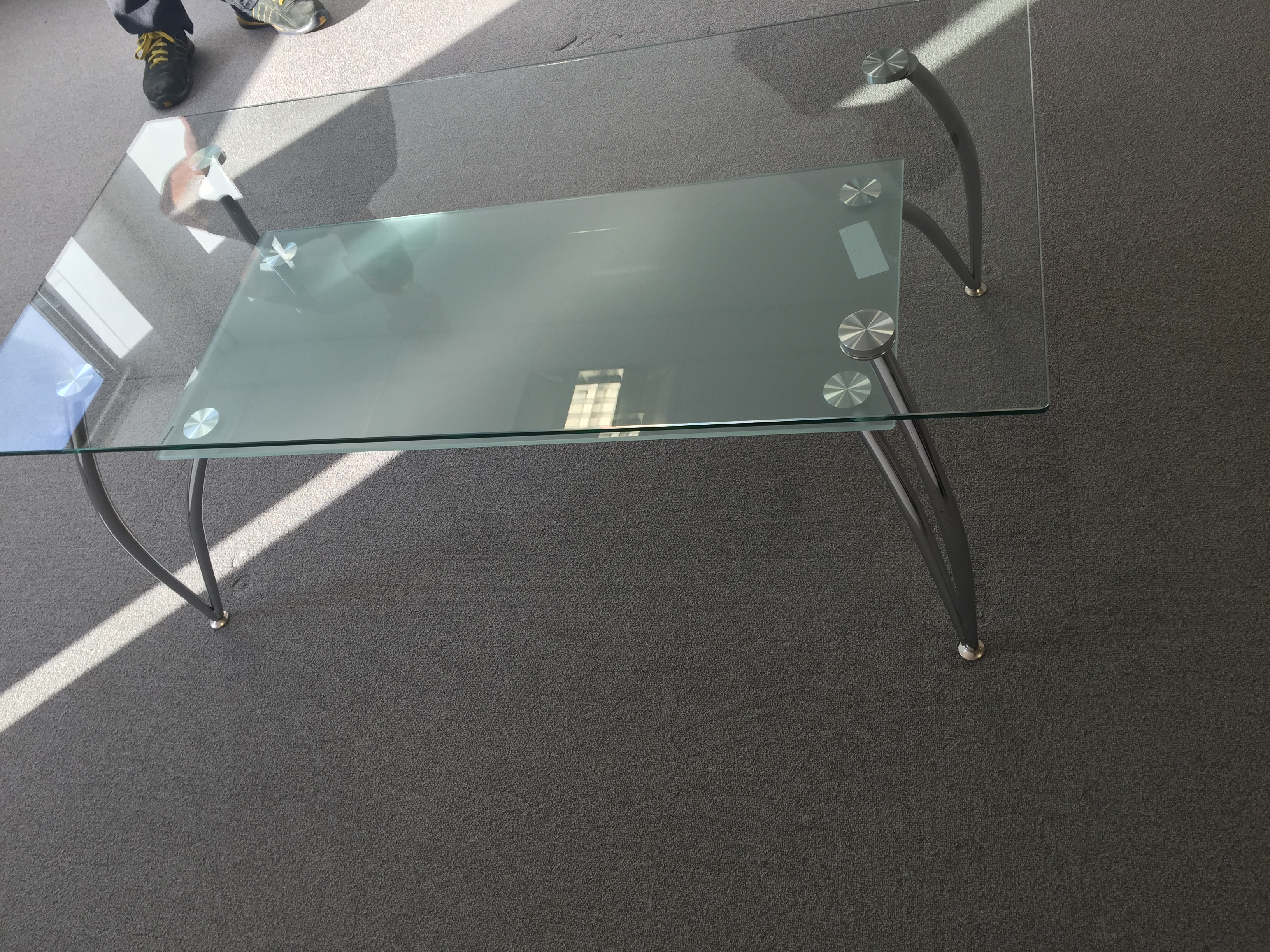 Lot 2 - Glass Coffee Table (dismantled)