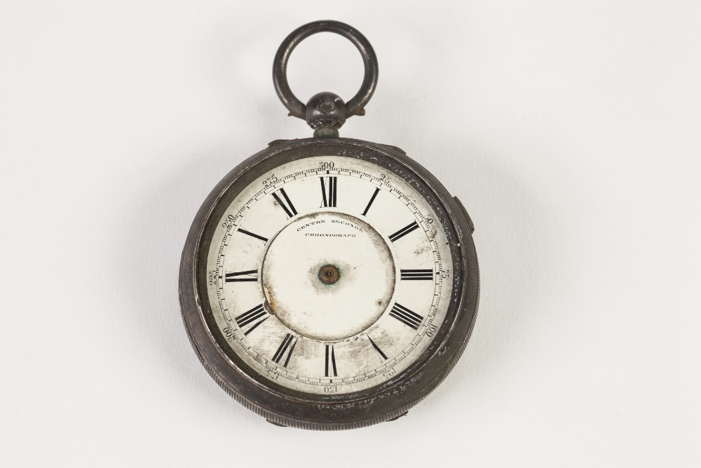 Lot 6 - Y BERNSTEIN & SON MANCHESTER LATE 19TH CENTURY LARGE SILVER CASED open face centre seconds