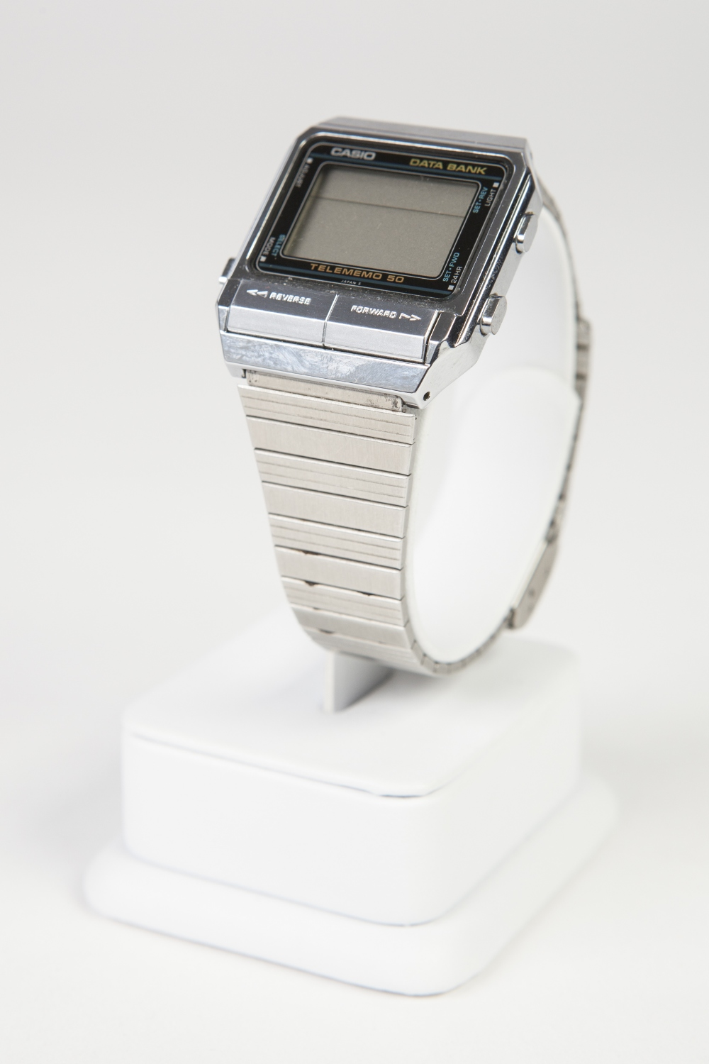 Lot 22 - GENT'S CASIO DATA BANK TELEMEMO 50 CHRONOGRAPH DIGITAL WRIST WATCH reference DB - 500, with quartz