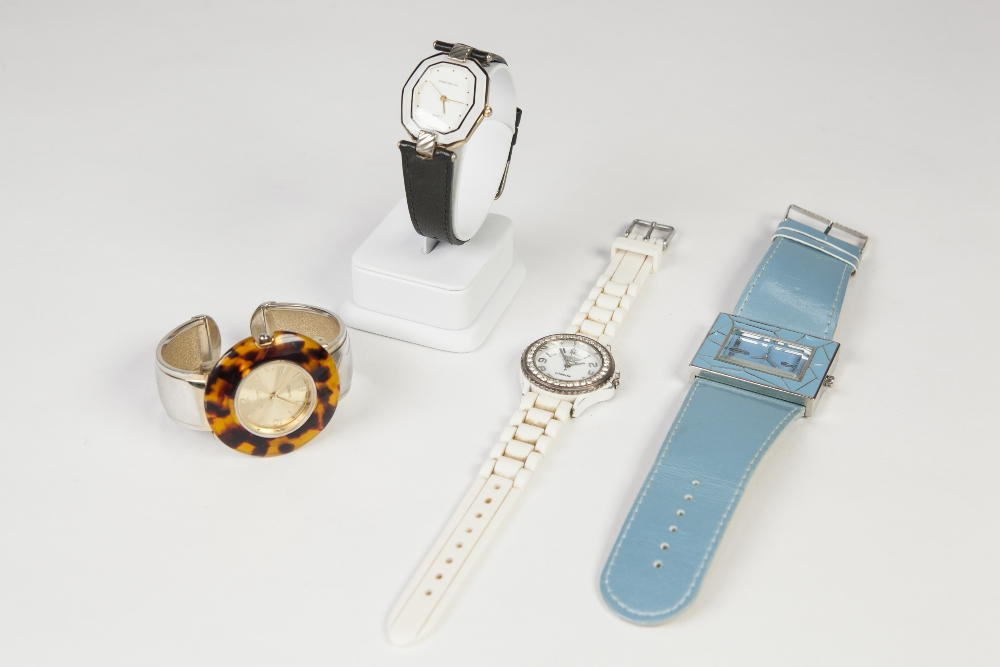 FOUR LADIES QUARTZ FASHION WATCHES by Philip Mercier, Ousda, Charm and Prince, London