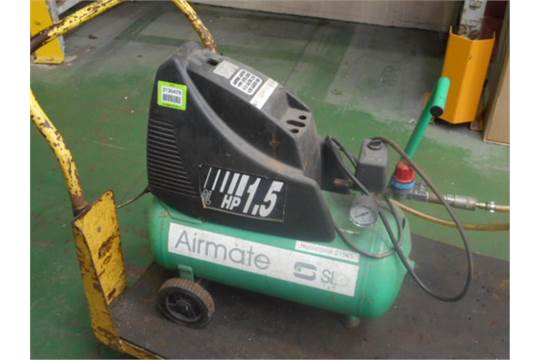 SIP Hurricane 21525 Mobile Air Compressor, Single Phase, 1.5hp. HIT#  2135478. Stores. Asset Loc