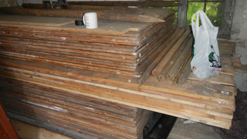 Lot 29 - A large quantity of timber including scaffold boards