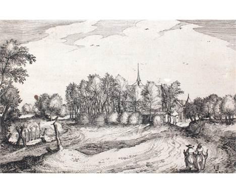 Meister der kleinen Landschaften: (flämisch, aktiv ca. 1550-1610). Bl. 13, 16, 17 u. 20 wohl aus einer Folge von 44 Landschaf