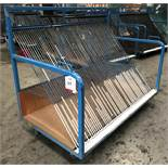 64 Slot Mobile Glass Trolley w/ Vertical Mounted Handles