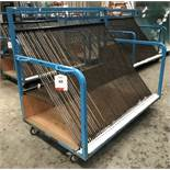 64 Slot Mobile Glass Trolley w/ Side Mounted Handles