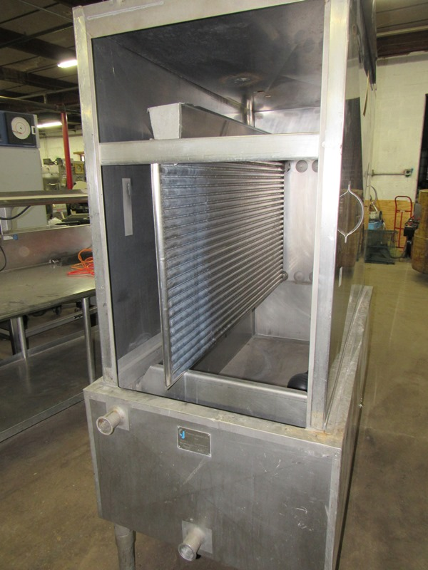Lot 13 - Chester Jensen Mdl. B-4-OT-1-24 Ammonia Plate Chiller, 4 plate capacity, current setup w/single