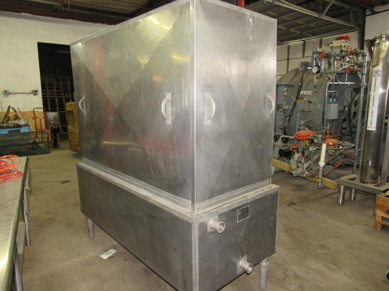 Chester Jensen Mdl. B-4-OT-1-24 Ammonia Plate Chiller, 4 plate capacity, current setup w/single - Image 2 of 6