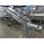 "Kamflex Mdl. 810 Stainless Steel Incline Conveyor, 10"" W X 9' L, 30"" infeed, 64"" discharge,"
