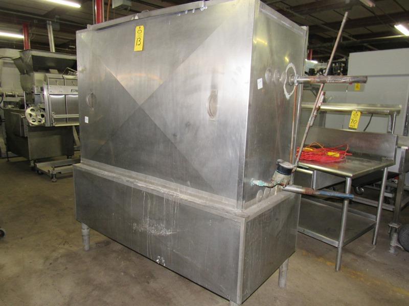 Chester Jensen Mdl. B-4-OT-1-24 Ammonia Plate Chiller, 4 plate capacity, current setup w/single