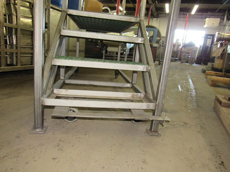 "Lot 34 - Portable Work Platform, 24"" W X 76"" L X 31"" T stairs platform, left side opening, 6' T w/"