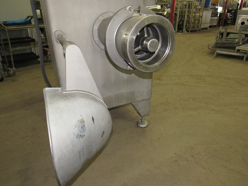 "Lot 27 - Rome Mdl. R-200 Grinder, 8"", stainless steel, hopper extension, w/safety interlock, Ser. #06-105,"