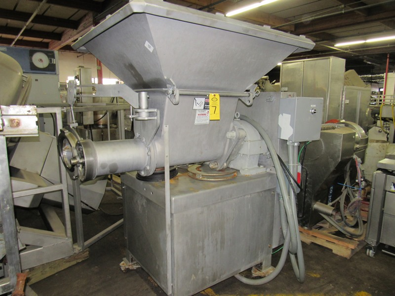 """Lot 7 - Weiler Mdl. 878 Grinder, 8"""" head, removable stainless steel hopper extension, stainless steel"""