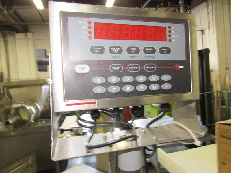 "Lot 44 - Rice Lake Mdl. 420 Digital Scale, 24"" X 24"" stainless steel platform;with GoDex Printer;*** All"