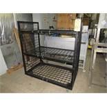 """Lot;(1) Portable Rack, 28"""" W X 48"""" L X 55"""" T, (1) Rubbermaid plastic Cabinet, 2-doors, 4-shelves, 3'"""