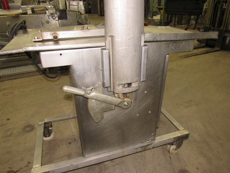 Lot 22 - Biro Band Saw, aluminum head, stainless steel table, on wheels;*** All Funds Must Be Received By