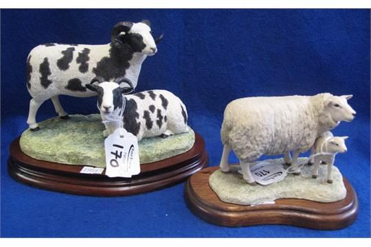 Border Fine Arts ceramic group 'Texel Ewe and Lamb', no  120