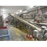 Overhead conveyor, cleated belt, 24 ft. long x 12 in. wide, SS frame, with drive   __This item is