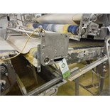 Belt conveyor, blue sanitary belt, 137 in. long x 50 in. wide, SS frame, with drive   __This item is