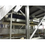 Scale conveyor, white sanitary belt, 146 in. long x 10 in. wide, SS frame, with drive   __This