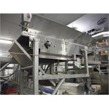 Overhead conveyor, plastic interlock belt, 48 in. long x 11 in. wide, SS frame, with drive