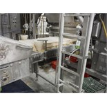 Belt conveyor, blue sanitary belt, 19 ft. long x 30 in. wide x 44 in. tall, SS frame, with drive