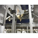 Overhead belt conveyor, 84 in. long x 24 in. wide, SS frame, with drive   __This item is located