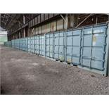 (LOT) (5) 8' X 20' AND (5) 7' X 8' CONEX STORAGE CONTAINERS