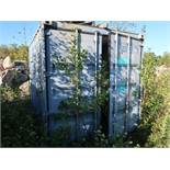 8' X 9' CONEX STORAGE CONTAINER WITH TUNTABLE GEARS