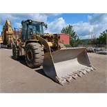 CATERPILLAR MODEL 950G ARTICULATING WHEEL LOADER; S/N T3JW02490, CAT 90G/ 962 BUCKET, NO. B1E01991 /