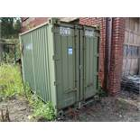 5' X 7' CONEX STORAGE COUNTAINER WITH CONTENTS OIL DRY
