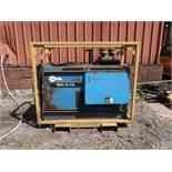 400 AMP MILLER AIR PAK DIESEL POWERED SKID MOUNTED WELDER GENERATOR / AIR COMPRESSOR; S/N