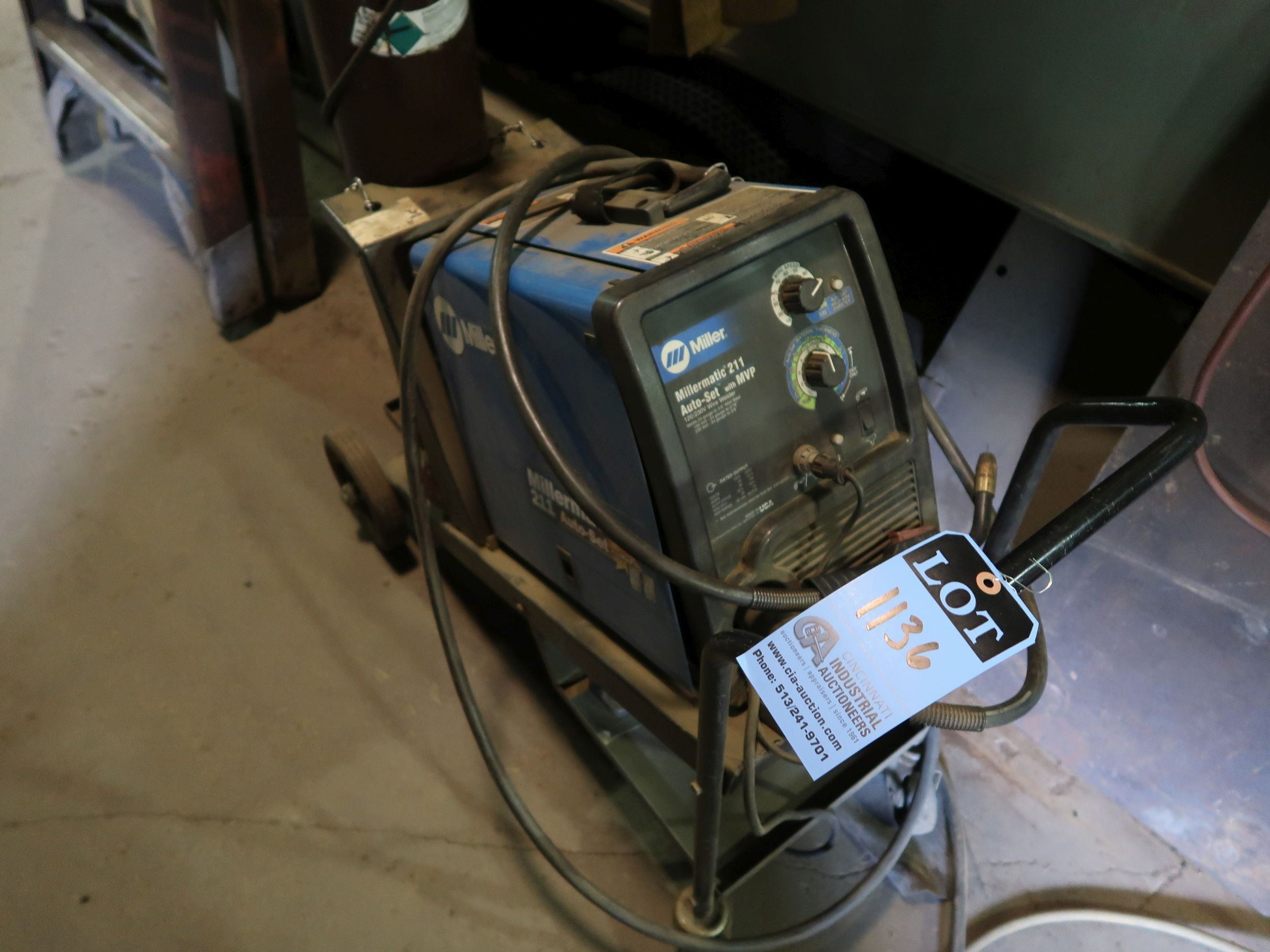 Lot 1136 - 150 AMP MILLERMATIC AUTO SET WITH MVP WIRE WELDER