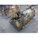 """62"""" ALLIED GATOR MODEL 1581A SKID STEER BUCKET WITH GRAPPLE"""