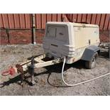 INGERSOLL RAND MODEL XP185 DIESEL POWERED TRAILER MOUNTED AIR COMPRESSOR, 4 CYCLINDER, JOHN DEERE