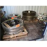 (LOT) LARGE OFFERING OF ALLIED GATOR PARTS THAT ARE STORED IN (160) CONEX CONTIANERS, YELLOW STEEL