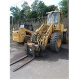 CATERPILLAR MODEL IT14B RUBBER TIRE LOADER; S/N 3NJ00060, 21,804 HOURS, WITH ROTATING FORK