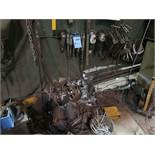 (LOT) WELDING CURTAIN, CABINETS, TOOLBOXES, VIDMAR CABINET AND WELDING RELATED ITEMS