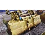 """99"""" WIDE IT LOADER BUCKET WITH CLAM SHELL ATTACHMENT MODEL 168-1A"""