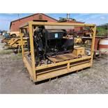 3,500 PSI LANDA MODEL SDHW6-3500E DIESEL POWERED SKID MOUNTED POWER WASHER; S/N P0206-118436,