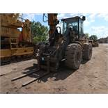 2002 CATERPILLAR MODEL IT28G ARTICULATING RUBBER TIRE WHEEL LOADER; S/N 4TF76145 OR CAT