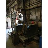 500 AMP LINCOLN IDEALARC R3R-500 ARC WELDER WITH 15' BOOM AND WIRE FEEDER
