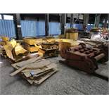 (LOT) MISCELLANEOUS ALLIED GATOR FABRICATED PARTS INCLUDING CLAM SHELL ATTACHMENTS, GENERATOR AND