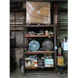 (LOT) SHELF WITH CONTENTS WELDING SUPPLIES
